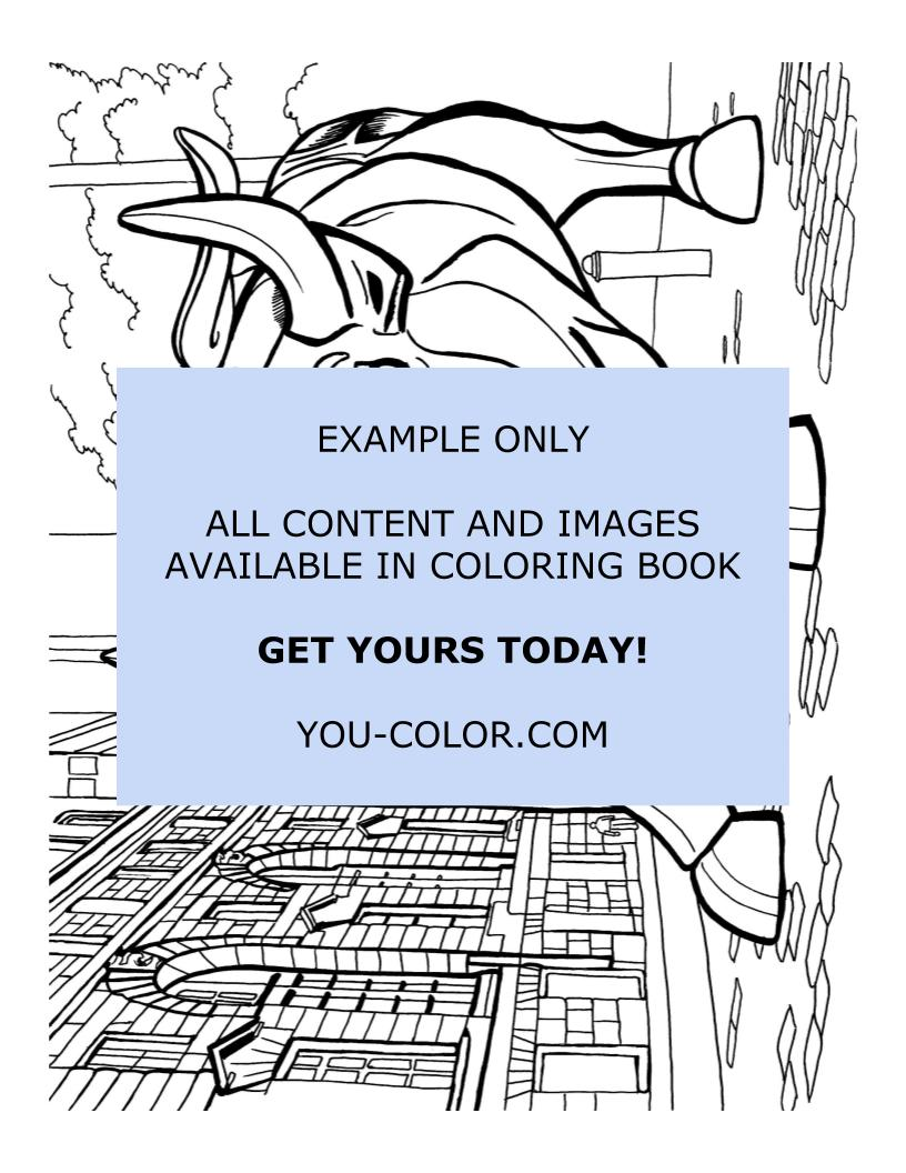 Wall Street Bull Statue - Coloring Page