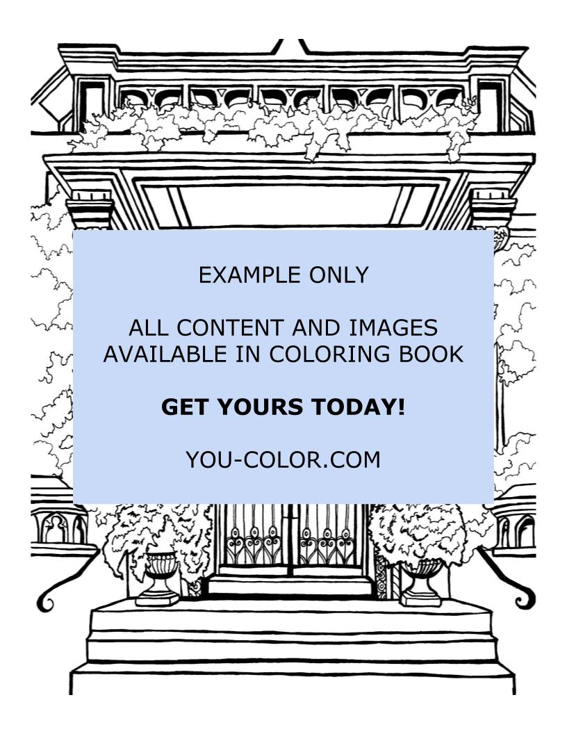 Upper East Side - Coloring Page