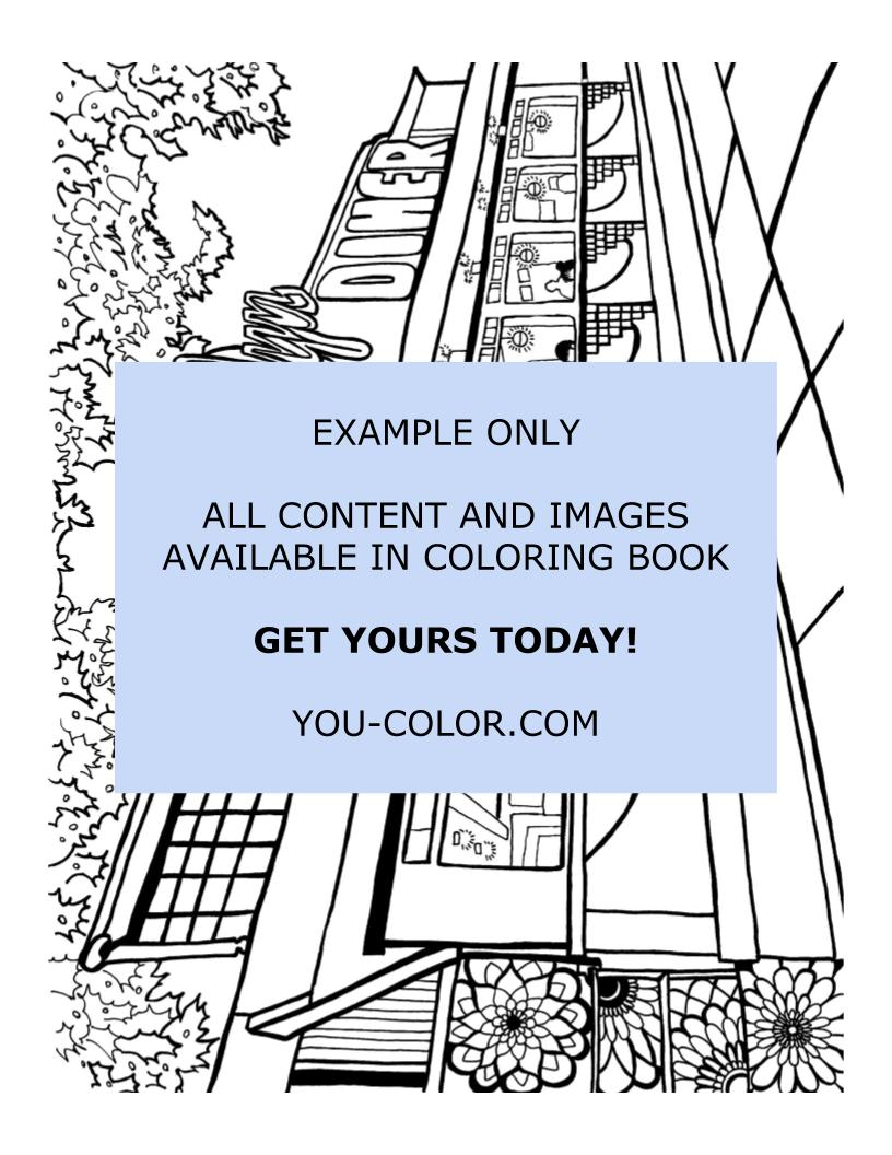 American Diners of New York - Coloring Page