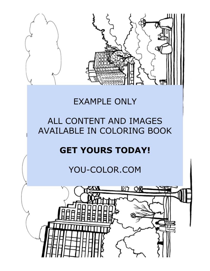Washington Square Park Arch - Coloring Page