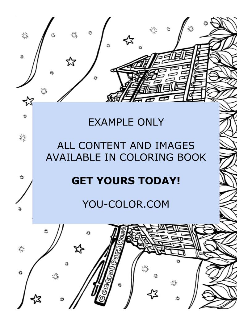 Dakota Building - Coloring Page