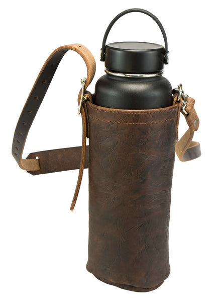 HikerPouch - Leather Carrying Pouch for Hydro Flasks