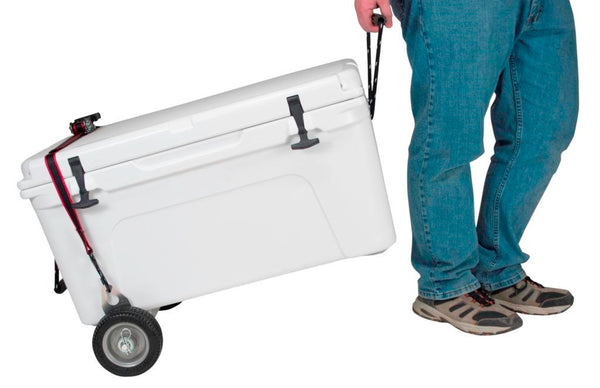 CoolerPro - Single Axle for Coolers, Adjustable Width for a Near-Universal Fit, Works with YETI Tundra 35-160