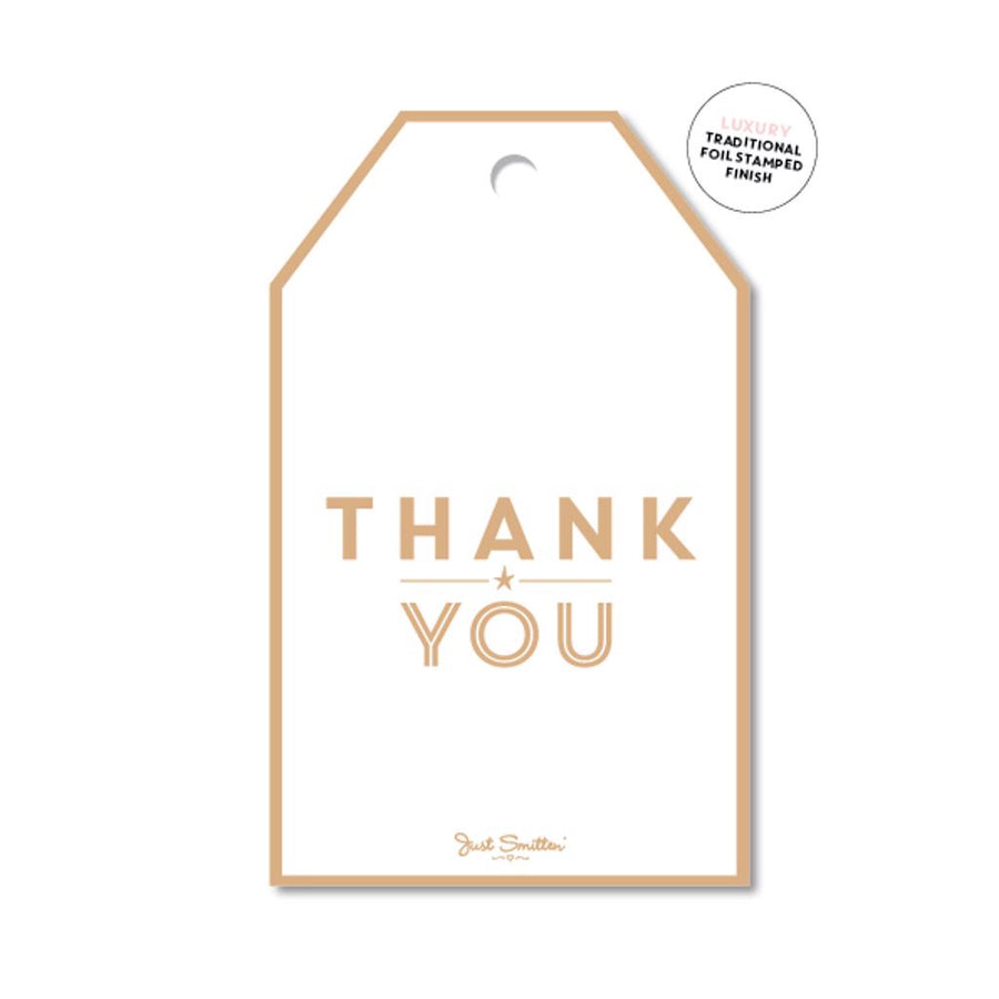 Gold Thank You Gift Tag