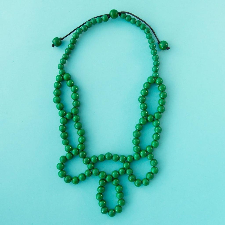 Maasai Weave Necklace Emerald