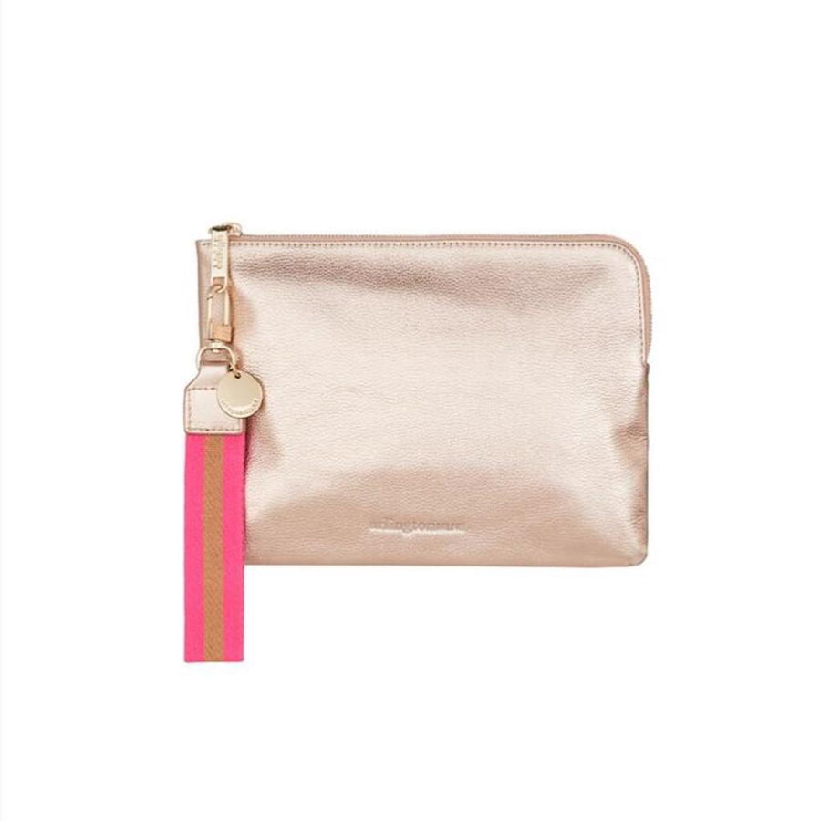 Paige Clutch - Rose Gold