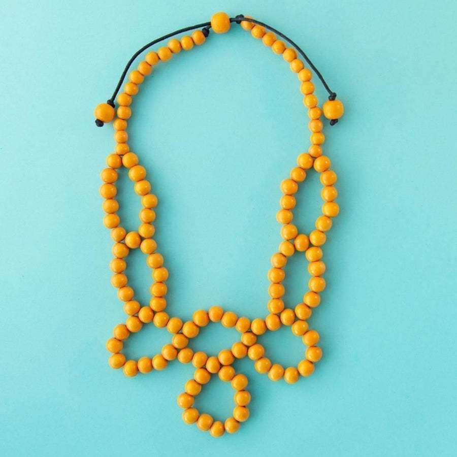 Maasai Weave Necklace Yellow