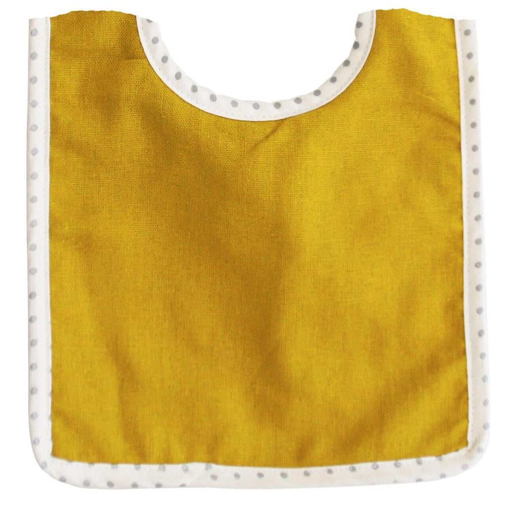 Bobby Linen Bib - Butterscotch