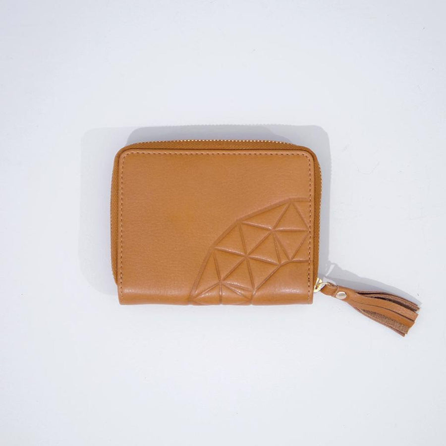 Rose & Lyle Emboss Zip Wallet Caramel