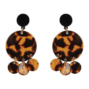 Rosa Drop Earring - Caramel