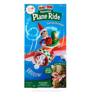 Elves At Play Inflatable - Peppermint Plane Ride