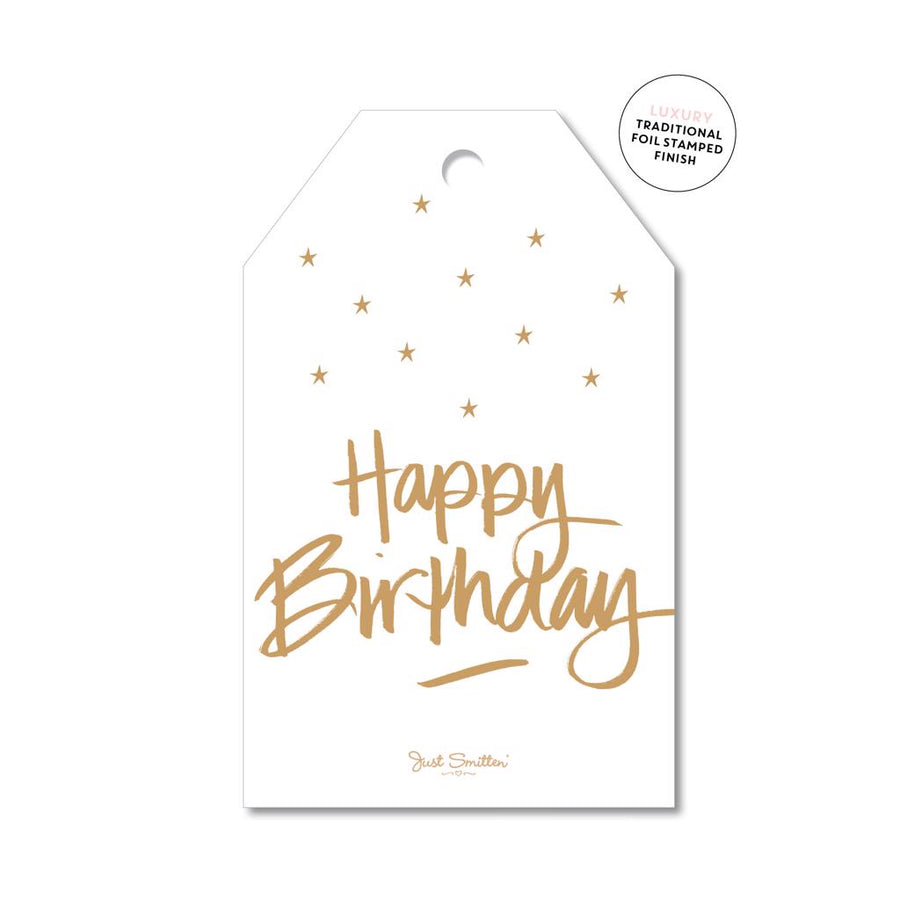 Classic Script Birthday Gift Tag
