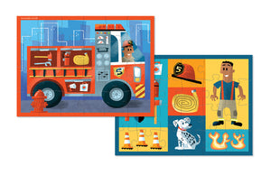 24pc Fire Truck 2-Sided Puzzle