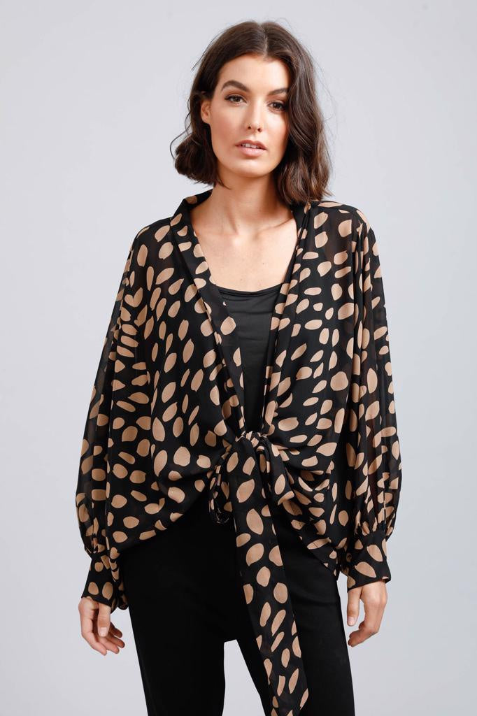 Morgan Wrap Top Falling Leaf