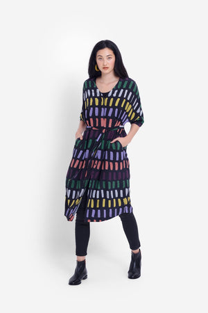 Juna Dress - Charcoal Multi