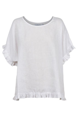 Majorca Frill Top - White