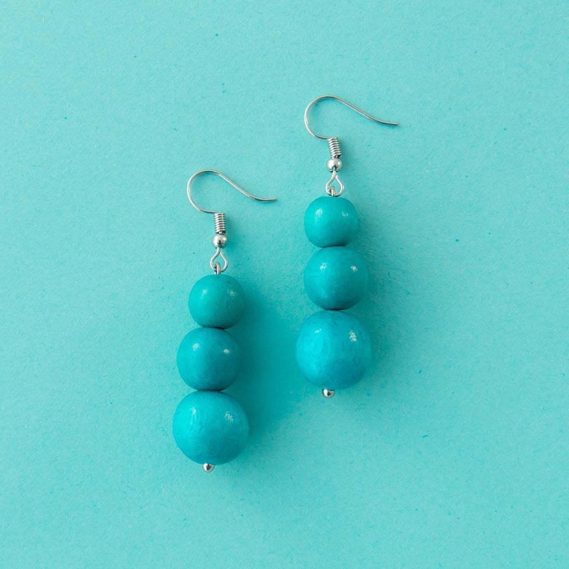 Maasai Drop Earring Aqua