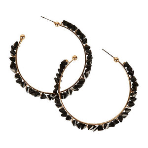 Coco Hoop Earring - Black
