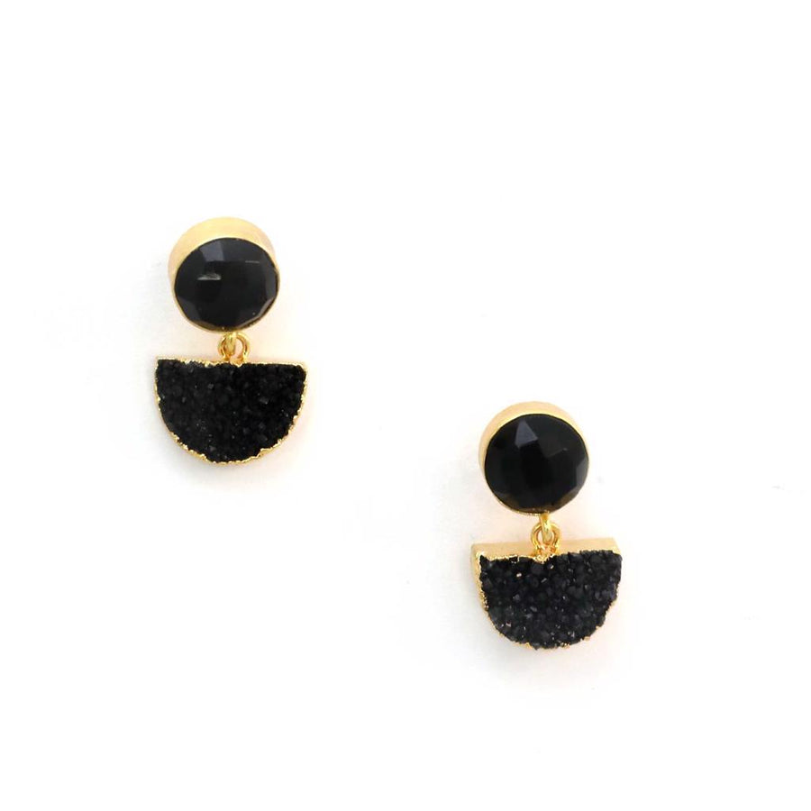 Zoda Black Moon Earring