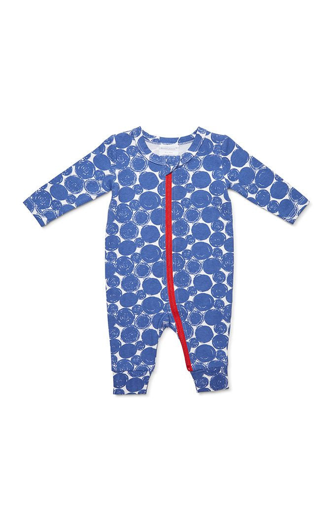 Marquise Blue Circles Zipsuit