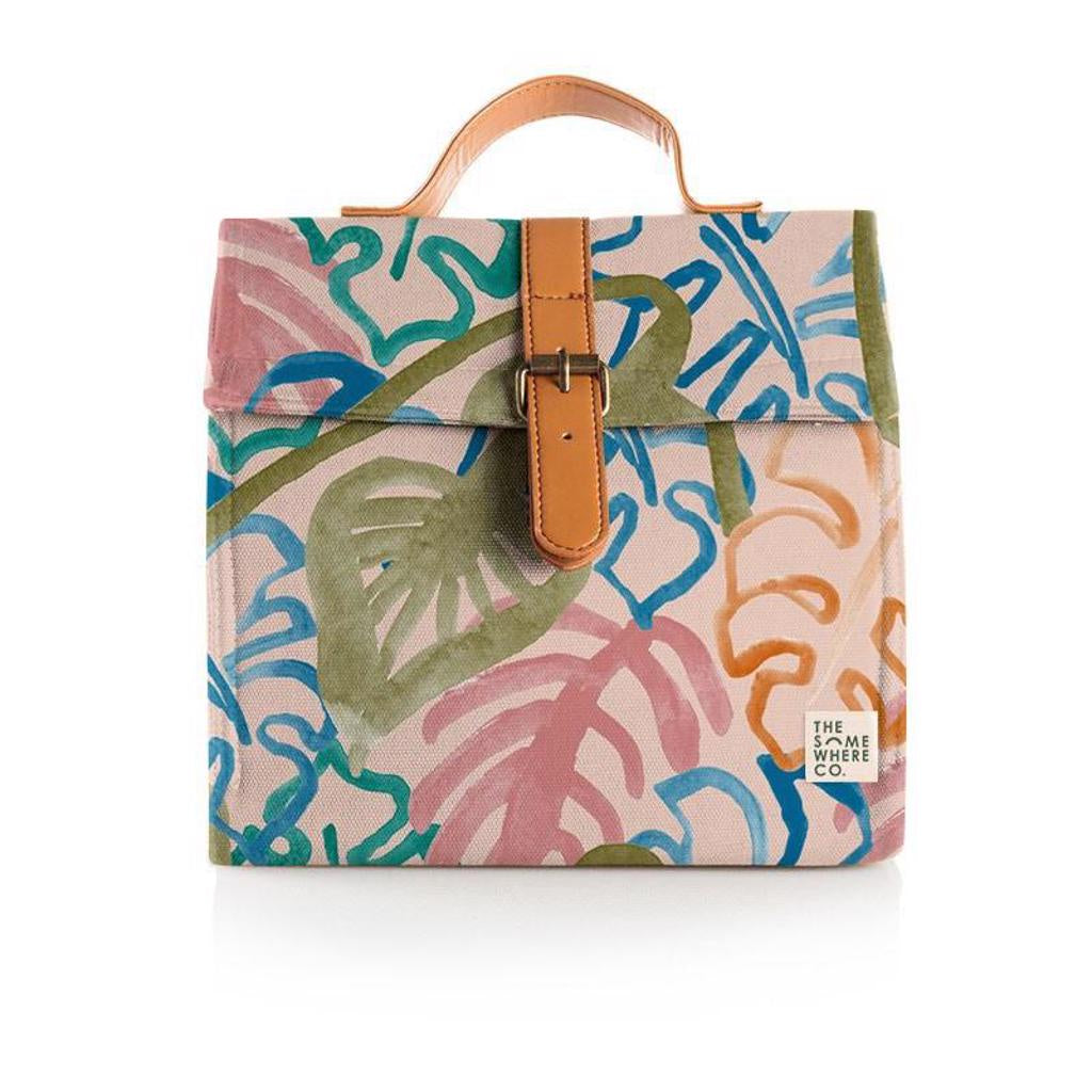Wild Monstera Lunch Satchel