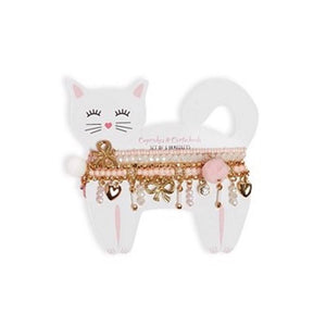 Cupcakes & Cartwheels Kitten Bracelet Set