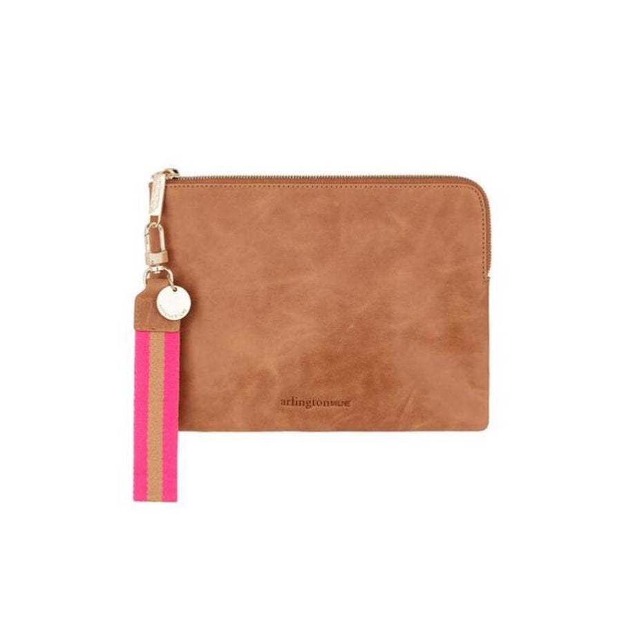 Paige Clutch - Vintage Tan