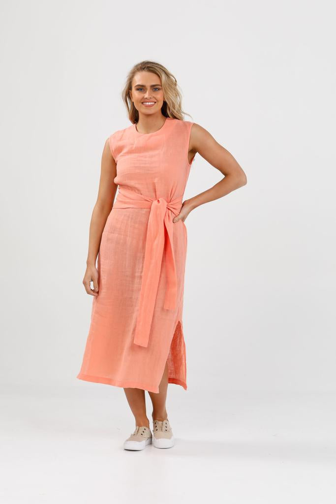Turning Point Dress - Coral