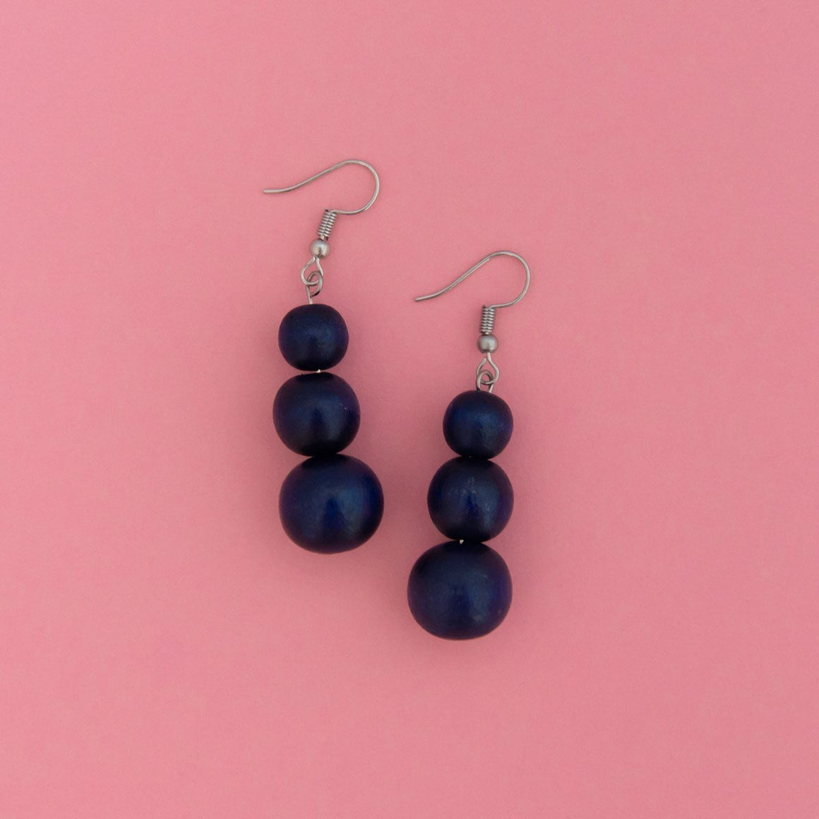 Maasai Drop Earring Navy