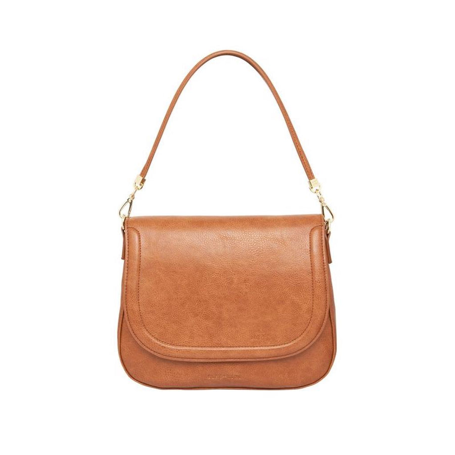 Ferrara Saddle Bag - Tan Pebble