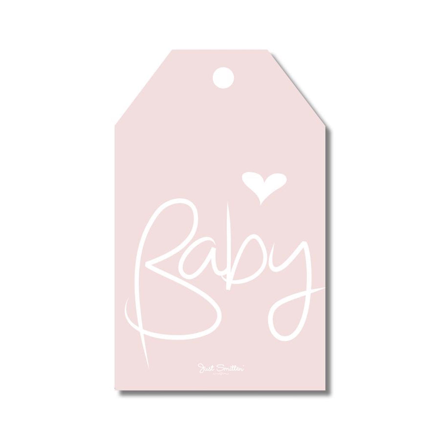 Pink Script Baby Gift Tag