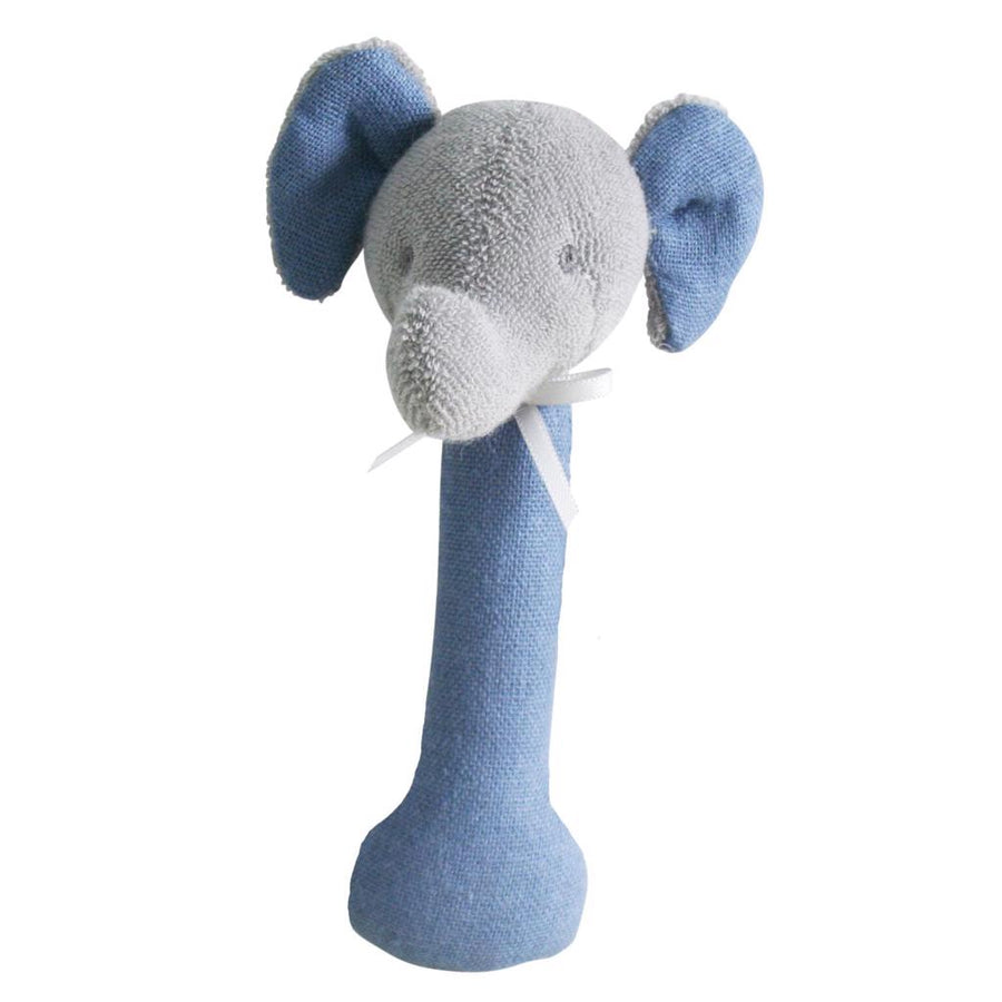 Elephant Stick Rattle - Linen Chambray