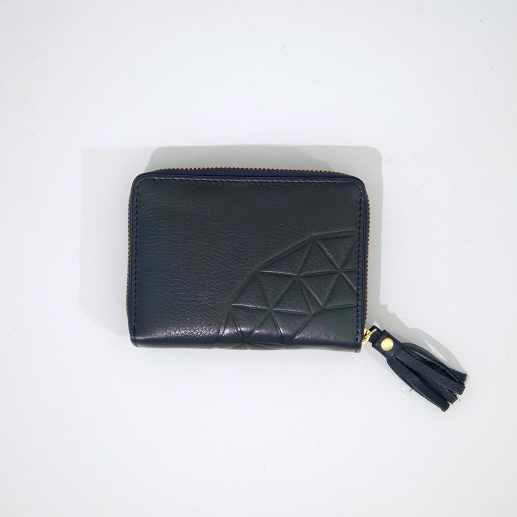 Rose & Lyle Ash Emboss Zip Wallet Navy