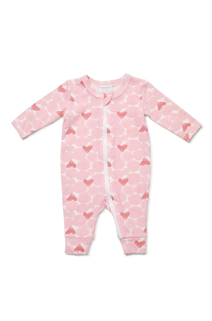 Marquise Pink Hearts Zipsuit