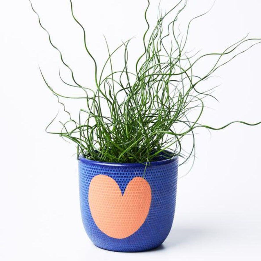 Heart Pot Indigo