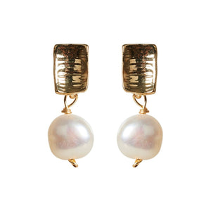 Luxe Drop Earring Pearl Mini