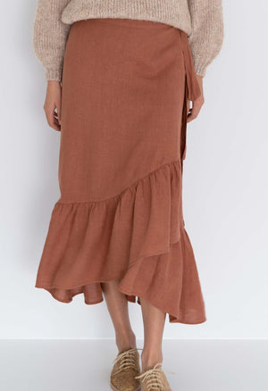Macy Wrap Skirt Cinnamon