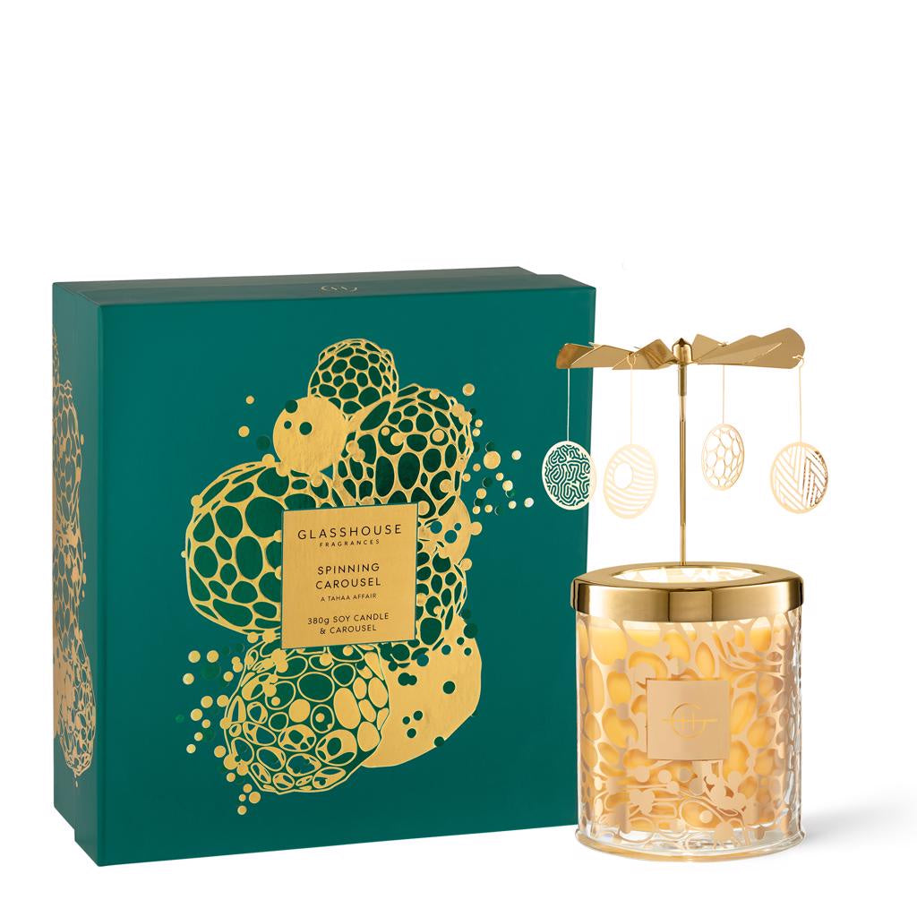 Tahaa Candle with Spinning Carousel Giftbox