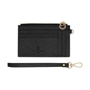 Mighty Mini Wallet Black Saffiano