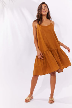 Majorca String Dress - Caramel