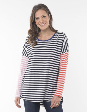 Sundays Stripe Long Sleeve Tee