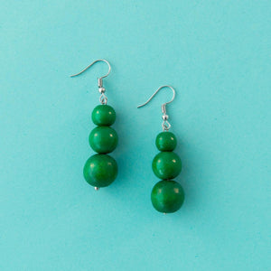 Maasai Drop Earring Emerald