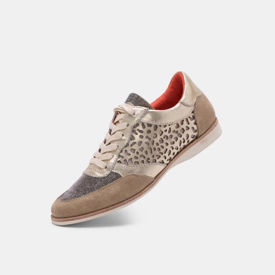 Trainer Taupe/Light Gold