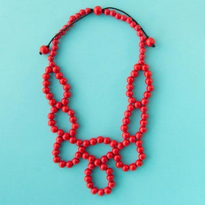 Maasai Weave Necklace Red