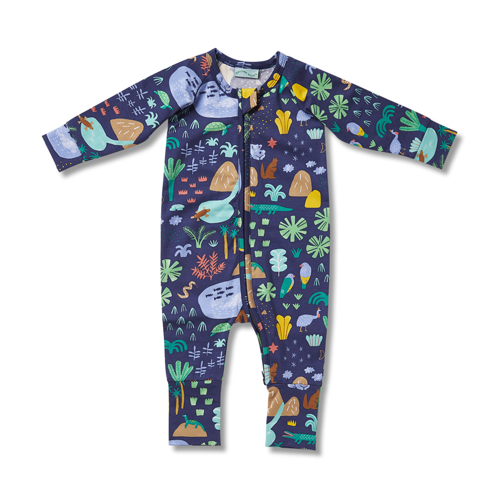 Beach Forest Long Sleeve Zipsuit