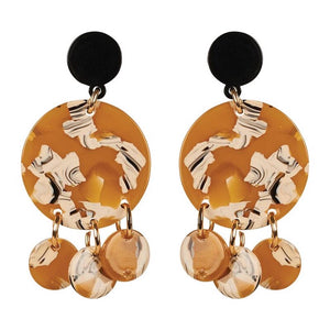 Rosa Drop Earring - Mustard
