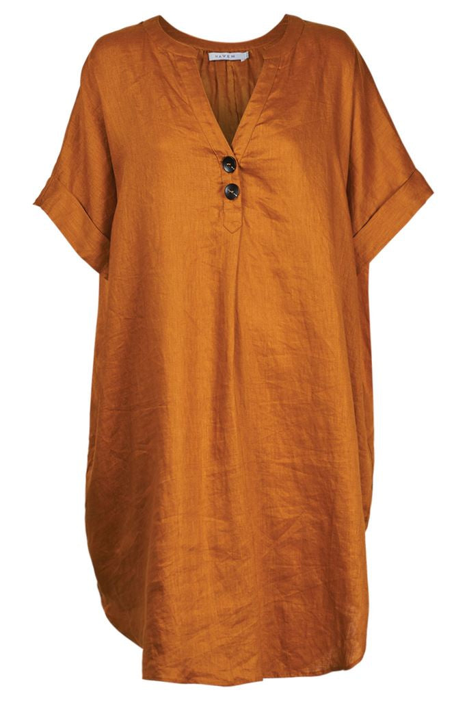 Majorca Shirt Dress - Caramel
