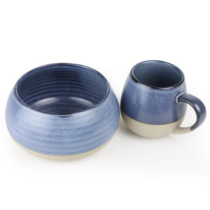 Morning Hugs Bowl & Mug Set - Denim