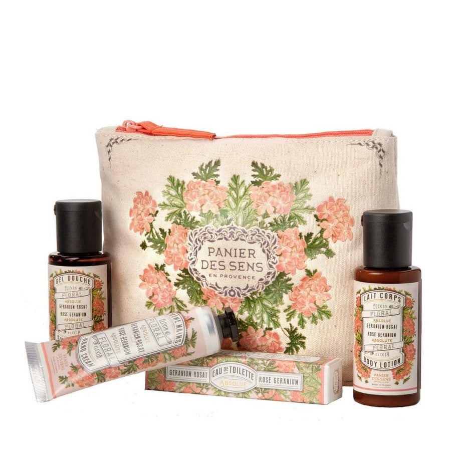 Rose Geranium Travel Gift Set