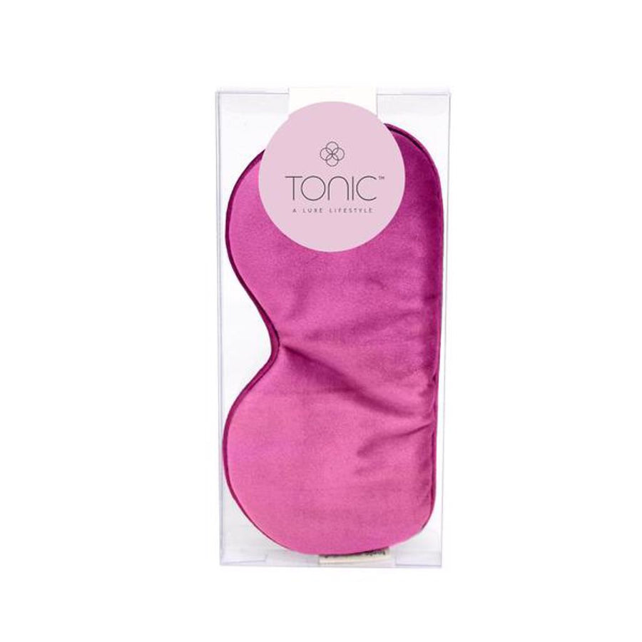 Luxe Velvet Eye Mask Berry